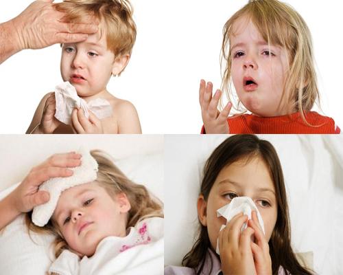 Các bệnh cảm cúm và ho thường gập ở trẻ