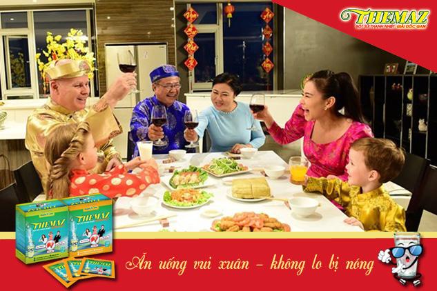 Cùng Themaz ăn uống vui xuân không lo bị nóng